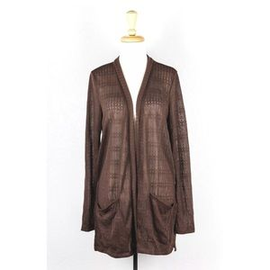 Anthropologie Sweaters - 🔥 Anthropologie Puella Brown Knit Cardigan Jacket